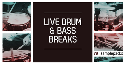 Live drum   bass breaks and drum loops